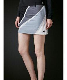 【公式】 デサントゴルフ 4WAYソロストレッチUMIプリントスカート【UV】 レディース ウェア スカート ゴルフ スポーツ DGWRJE06