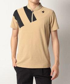 【公式】ルコックスポルティフ ゴルフ ルコック 【RIJOUME】ソレイユデザイン半袖シャツ《吸汗速乾・UV(UPF15)・ストレッチ》 メンズ ウェア シャツ ポロシャツ ゴルフ ゴルフウェア スポーツ QGMSJA10