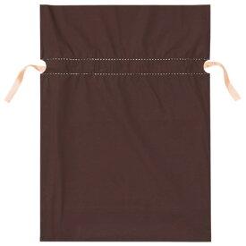 梨地リボン付ギフトバッグ 17cm ブラウン 20枚リボンを絞ると内側の袋が見えてツートンカラーになり、高級感がアップ。袋本体にリボンがセットされているので簡単にラッピングができます。【バレンタイン】ラッピング・包装・バレンタイン 袋