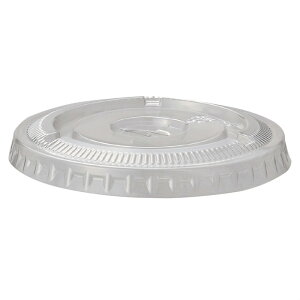 透明PETカップ350ml用 平型フタ 穴付き 50個PET製の透明度の高い使い捨てのプラスチックカップ。お菓子や果物などいろいろな用途で使用できます。テイクアウト 使い捨て容器 業務用 プラスチ