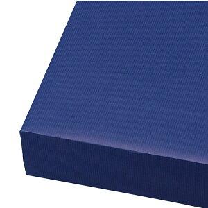 包装紙 筋入クラフト 半裁 ネイビー 100枚ネイビーの筋入りクラフト紙でシンプルでおしゃれなラッピングに。父の日のギフトラッピングにおすすめの包装紙です。包装紙 おしゃれ ラッピン
