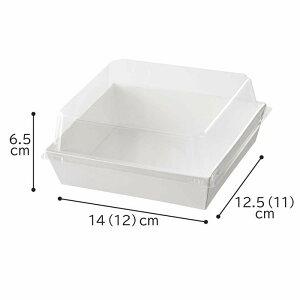 フタ付きデリギフトボックス 四角 白 50個フタに高さがあり、天ぷらやサンドイッチ、ハンバーグなど高さのあるお惣菜も入れることができます!テイクアウト・使い捨て容器 ランチボック