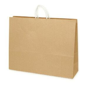 手提紙袋 丸ひも 茶 60×18×47cm 50枚定番で使いやすいクラフトタイプの持ち手付き紙袋です。紙袋 袋 おしゃれ 業務用 手提げ ラッピング ギフト