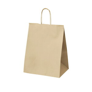 クラフト手提げ紙袋 丸ひも ローコストタイプ 茶無地 34×22×44cm 50枚サイズも豊富にご用意! よく使われるサイズをお求めやすい価格で。紙袋 袋 業務用 手提げ ラッピング 茶色 クラフト