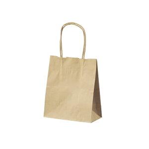 【50枚入り】クラフト手提げ紙袋 丸ひも ローコストタイプ 茶無地 21×12×25cmサイズも豊富にご用意! よく使われるサイズをお求めやすい価格で。紙袋 袋 業務用 手提げ ラッピング 茶色 クラ