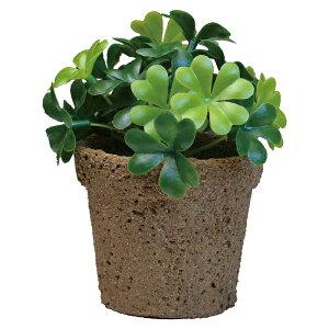 ミニグリーン クローバー 1個アクセントとして多彩に使えるミニサイズのグリーンポット。【フェイクグリーン・人工観葉植物・人工樹木】おしゃれ ミニ 卓上