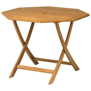 ユーカリ材ガーデンテーブル天然木を使用しているので触り心地もよく、周囲の庭木にも調和します。折りたたみもでき、収納にも便利ですガーデンテーブルセット 木製 屋外 テラス バルコ