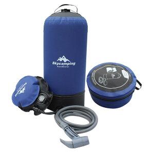 ポータブルシャワー 簡易シャワー アウトドア キャンピングシャワー キャンプ用品 加圧ポンピング式 (容量11L)ポンプ式 携帯シャワー ソーラー加熱 サーフィン 海水浴 洗車 植物潅水 コ