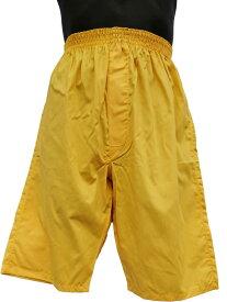 ロングトランクス ひざ丈 ステテコ 日本製 ルームウェア 部屋着 ハーフパンツ お中元 ギフト 誕生日 プレゼント 風水カラー 黄色 大きいサイズ LL 3L 綿100% 前開き