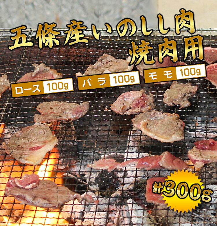 五條産ジビエ 焼肉用いのしし肉 300g【お取り寄せ】【お土産】【五條市運営の施設で加工】
