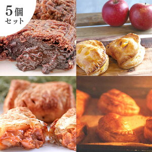 パイ専門店 Pie,guruguru 究極のパイ詰合せ5個入り(アップル、ミート、生チョコレート、生キャラメル、季節のパイ)