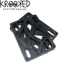"""【KROOKED】SKATEBOARD RISER PAD(1/4"""")PK/2(クルキッド スケートボード スペースパッド ライザーパッド 2枚セット)16s/"""