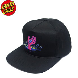 【SANTA CRUZ】Wall Hand Snapback Cap(Black)(サンタクルーズ スナップバック キャップ 帽子 ブラック)19f/