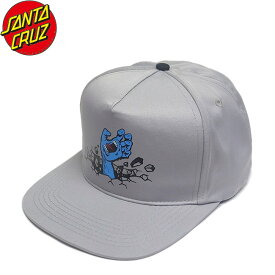 【SANTA CRUZ】Wall Hand Snapback Cap(Grey)(サンタクルーズ スナップバック キャップ 帽子 グレー)19f/