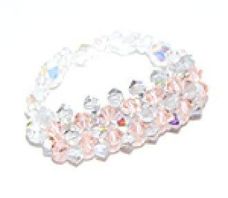 Beading accessories-Swarovski luxury three-ring (light peach & shadow Crystal AB)