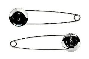 アクセサリーパーツ 金具 ストールピン ブローチピン お皿20mm ピン70mm 銀色 ニッケルメッキ 10コ入りサービスパック