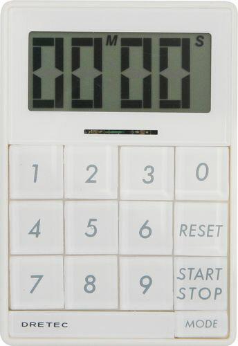 【メール便送料無料】ドリテック デジタルタイマー「キュービック」 ホワイト T-192WT