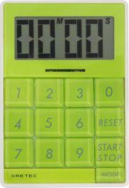 【メール便送料無料】ドリテック デジタルタイマー「キュービック」 グリーン T-192GN
