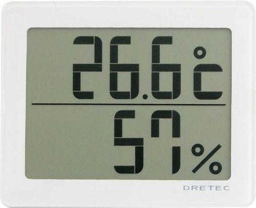【2160円以上送料無料】ドリテック デジタル温湿度計「アクリア」 ホワイト O-226WT