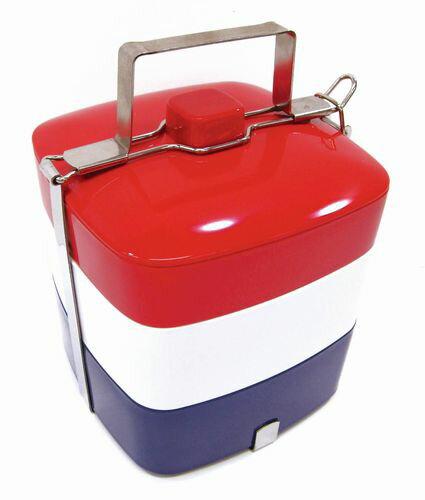 【2160円以上送料無料】Primal Designs メラミンピクニックボックス3段 トリコロール(フレンチ) MF-3200 弁当箱 お重箱