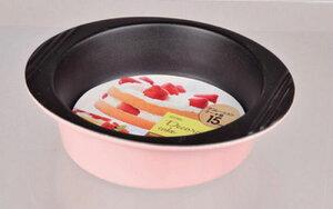 【2160円以上送料無料】 パール金属 ポテリィ ふっ素加工デコレーションケーキ型17cm(ピンク) D-351