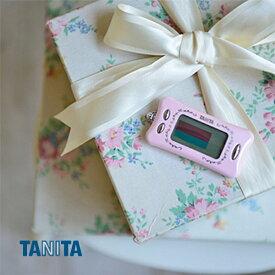 【メール便送料無料】タニタ La Muse 活動量計 AM-132 シャーベットピンク カロリー計算 ダイエットサポート【在庫限り】
