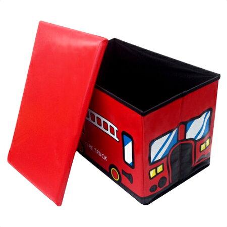 【2000円以上送料無料】ユーカンパニーストレージボックススツールファイヤートラック14528消防車