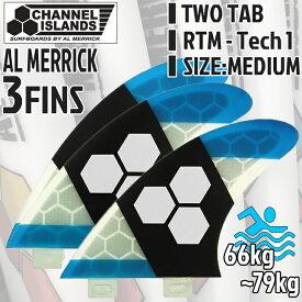FCS フィン Channel Islands Al Merrick チャンネルアイランドアルメリック トライフィン RTM TECH 1 ミディアム MIDIUM 3FIN TWOTAB 日本正規品