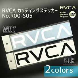 RVCA ルーカ シール ルカロゴステッカー ラージサイズ 型抜き カッティングステッカ− 品番 R00-S05 BLK ブラック /WHT ホワイト 日本正規品