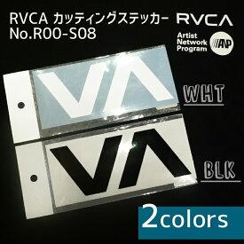 RVCA ルーカ カッティングステッカ− シール ルカロゴステッカー 型抜き BLK ブラック /WHT ホワイト 品番 R00-S08 日本正規品