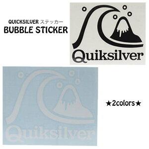 21 QUICKSILVER クイックシルバー ステッカー BUBBLE STICKER 転写ステッカー シール サーフィン サーフボード おしゃれ 品番 QOA215322 日本正規品