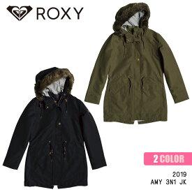 19 ROXY ロキシー ジャケット アウター コート アーミー ミリタリー ファー モッズコート 防水 防寒 レディース 2019年秋冬モデル AMY 3N1 JK 品番 GRJJK03096 日本正規品
