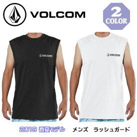 VOLCOM ボルコム タンクトップ ラッシュガード 半袖 Tシャツ メンズ SURF MUSCLE TANK TEE 日焼け対策/擦れ防止 2019年春夏モデル 品番 N37219G1 日本正規品