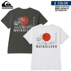 20 Quiksilver クイックシルバー Tシャツ M&W JAPAN ST 半袖 Tシャツ バックプリント カタカナ メンズ 2020年春夏 品番 QST202616T 日本正規品