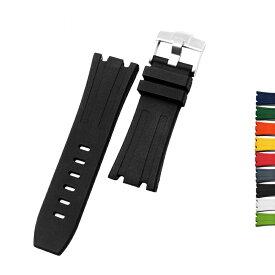 オーデマピゲ AP 用 互換社外品 ラバー ベルト 腕時計 ストラップ シンプル 28mm