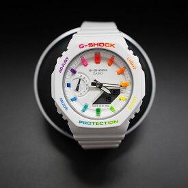 G-shock GMA-S2100-7AJF カシオーク カスタマイズ  レインボー カラフル 蛍光色