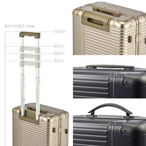 機内持込アルミスーツケースフレームLANGER【アーバナイト】ダブルキャスター