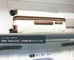 ストラティック中型軽量本革スーツケース【レザー&モア】セキュリティファスナー3-9902-65正規代理店キャリーバッグ65L3.4kg【送料無料】10倍ポイント新作あす楽