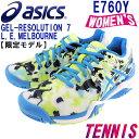 アシックス レディース 限定オールコート用テニスシューズ ゲルレゾリューション7 ASICS E760Y