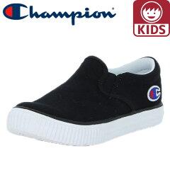 チャンピオン-キッズシューズ-軽量-CP-KC003-キッズセンターコート-SLIP-黒色-ブラック