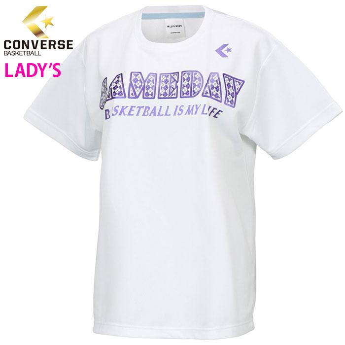 コンバース バスケ Tシャツ レディース プラクティスシャツ 女子 バスケットウェア 半袖 CONVERSE CB371303