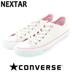 コンバース スニーカー ネクスター110 シューズ ホワイト×ピンク CONVERSE NEXTER110 HT OX 即納 人気 定番