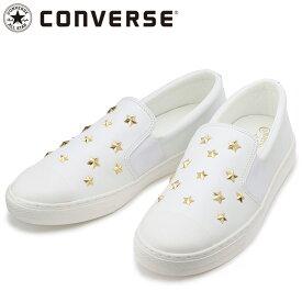 コンバース オールスター クップ スターズスリップオン ホワイト スニーカー 3130175 白色