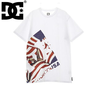 メンズTシャツ ディーシーシューズ 半袖 白Tシャツ DC アメリカ国旗柄 DCSHOES 5226J918 ホワイト