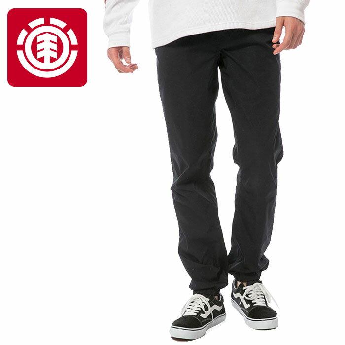 エレメント メンズ JOGGER MIDWAY TECH ロングパンツ 黒色 ズボン ELEMENT AI022712