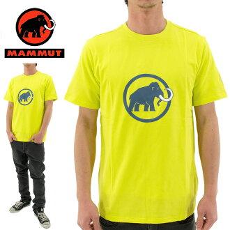 供供Mammut(mamuto)标识T恤有机棉布1041-07290(1205/LIMEABE)黄色男性使用的绅士使用的经典的标识T恤户外露营野外节日登山山间途步徒步旅行攀岩伏打环骑自行车365天发送邮购销售马上.。