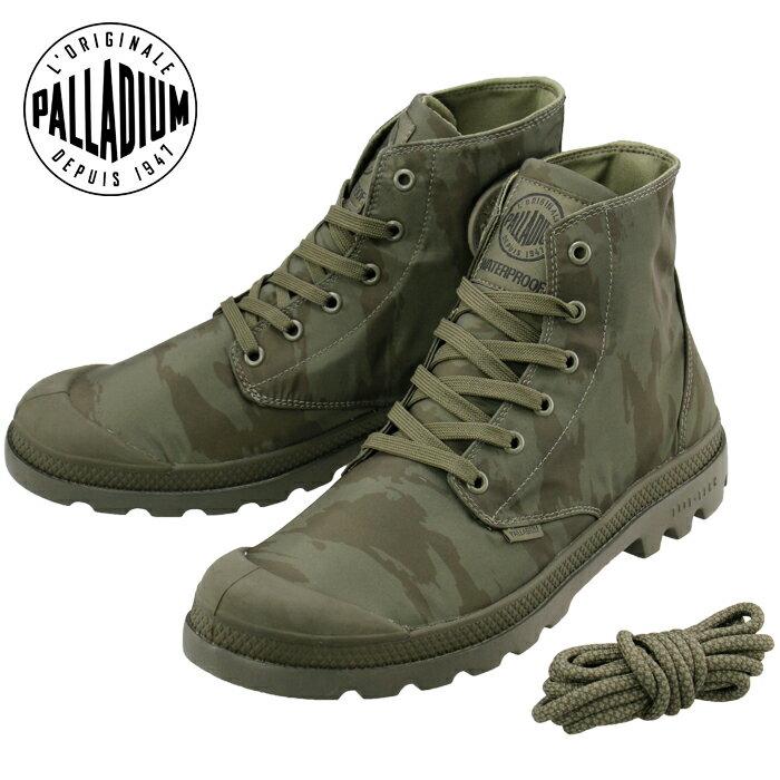 PALLADIUM 防水ブーツ パンパパドルライト WP パラディウム ユニセックス ハイカット ミリタリー カーキ