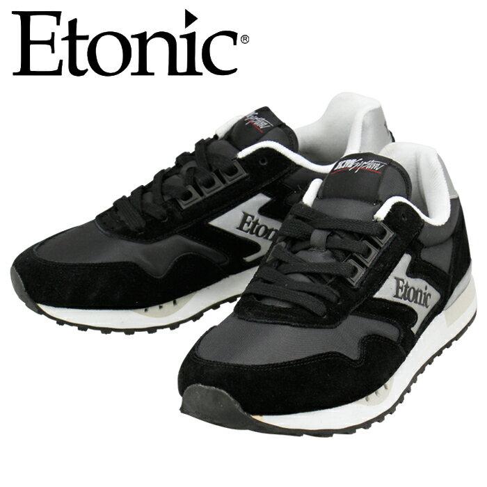 エトニック ETONIC マエストロ スニーカー MAESTRO1985 EMLJ17-02-104 スエード ブラックシルバー