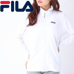フィラ-パーカー-吸水速乾-レディース-長袖-白色-シンプル-無地-UVカット