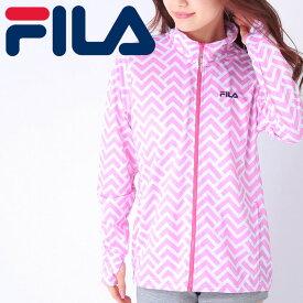 フィラ メッシュジャケット ラッシュ 長袖 ピンク色 FILA 上着 吸水速乾 UVカット ジップ付き 418634 ジャージ
